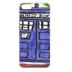 Tardis Painting Apple Iphone 5 Seamless Case (white) by Samandel