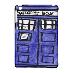 Tardis Painting Apple Ipad Mini Hardshell Case (compatible With Smart Cover)