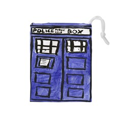 Tardis Painting Drawstring Pouches (medium)