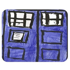 Tardis Painting Double Sided Flano Blanket (medium)