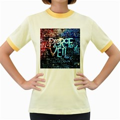Pierce The Veil Quote Galaxy Nebula Women s Fitted Ringer T Shirts by Samandel