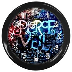 Pierce The Veil Quote Galaxy Nebula Wall Clocks (black) by Samandel