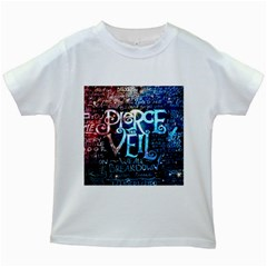 Pierce The Veil Quote Galaxy Nebula Kids White T Shirts by Samandel