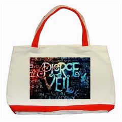 Pierce The Veil Quote Galaxy Nebula Classic Tote Bag (red) by Samandel