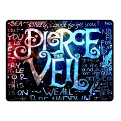 Pierce The Veil Quote Galaxy Nebula Fleece Blanket (small) by Samandel