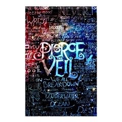 Pierce The Veil Quote Galaxy Nebula Shower Curtain 48  X 72  (small)  by Samandel