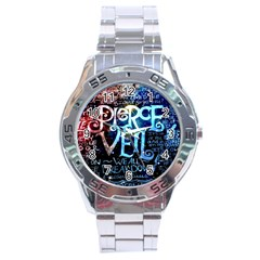 Pierce The Veil Quote Galaxy Nebula Stainless Steel Analogue Watch by Samandel
