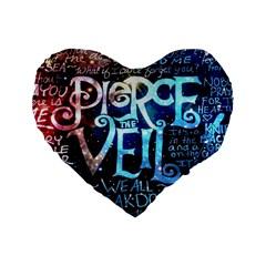 Pierce The Veil Quote Galaxy Nebula Standard 16  Premium Heart Shape Cushions by Samandel