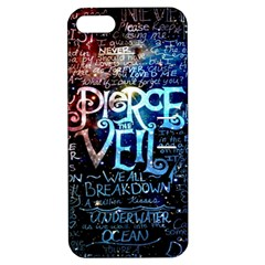 Pierce The Veil Quote Galaxy Nebula Apple Iphone 5 Hardshell Case With Stand by Samandel