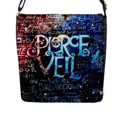 Pierce The Veil Quote Galaxy Nebula Flap Messenger Bag (l)