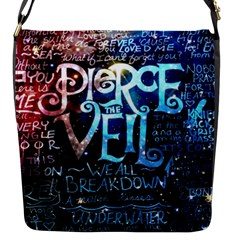 Pierce The Veil Quote Galaxy Nebula Flap Messenger Bag (s) by Samandel