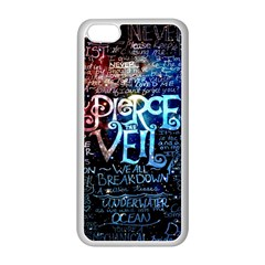 Pierce The Veil Quote Galaxy Nebula Apple Iphone 5c Seamless Case (white) by Samandel