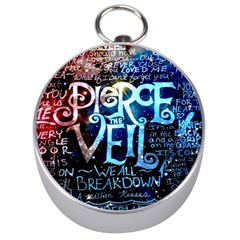 Pierce The Veil Quote Galaxy Nebula Silver Compasses