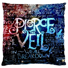 Pierce The Veil Quote Galaxy Nebula Large Flano Cushion Case (two Sides) by Samandel