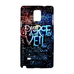 Pierce The Veil Quote Galaxy Nebula Samsung Galaxy Note 4 Hardshell Case by Samandel