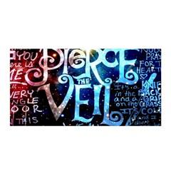 Pierce The Veil Quote Galaxy Nebula Satin Wrap by Samandel