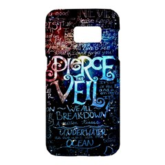Pierce The Veil Quote Galaxy Nebula Samsung Galaxy S7 Hardshell Case  by Samandel