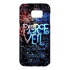 Pierce The Veil Quote Galaxy Nebula Samsung Galaxy S7 Edge Hardshell Case by Samandel