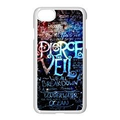 Pierce The Veil Quote Galaxy Nebula Apple Iphone 7 Seamless Case (white) by Samandel