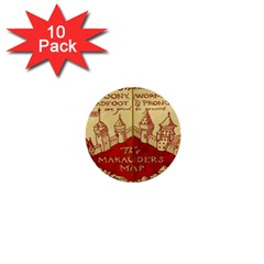 Marauders Map 1  Mini Buttons (10 Pack)
