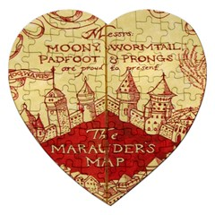 Marauders Map Jigsaw Puzzle (heart)
