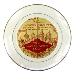 Marauders Map Porcelain Plates