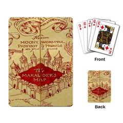 Marauders Map Playing Card