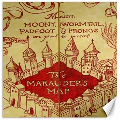 Marauders Map Canvas 16  X 16