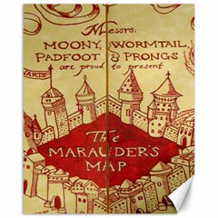 Marauders Map Canvas 16  X 20