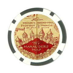Marauders Map Poker Chip Card Guard