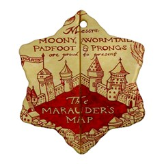 Marauders Map Snowflake Ornament (two Sides)