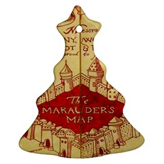Marauders Map Christmas Tree Ornament (two Sides)