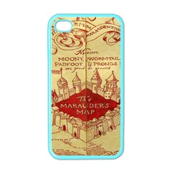Marauders Map Apple Iphone 4 Case (color)