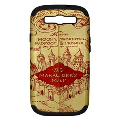 Marauders Map Samsung Galaxy S Iii Hardshell Case (pc+silicone)