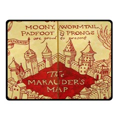Marauders Map Double Sided Fleece Blanket (small)