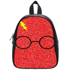 Glasses And Lightning Glitter School Bag (small)