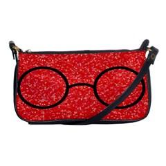 Glasses And Lightning Glitter Shoulder Clutch Bags