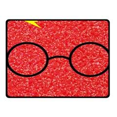 Glasses And Lightning Glitter Fleece Blanket (small)