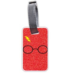 Glasses And Lightning Glitter Luggage Tags (one Side)