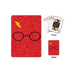 Glasses And Lightning Glitter Playing Cards (mini)