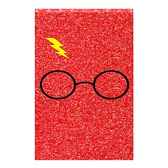Glasses And Lightning Glitter Shower Curtain 48  X 72  (small)