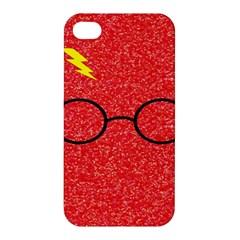 Glasses And Lightning Glitter Apple Iphone 4/4s Hardshell Case