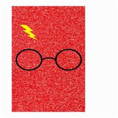 Glasses And Lightning Glitter Small Garden Flag (two Sides)