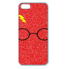 Glasses And Lightning Glitter Apple Seamless Iphone 5 Case (color)