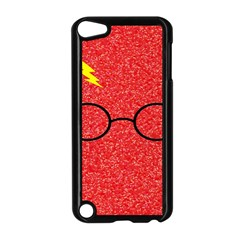 Glasses And Lightning Glitter Apple Ipod Touch 5 Case (black)