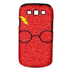 Glasses And Lightning Glitter Samsung Galaxy S Iii Classic Hardshell Case (pc+silicone)