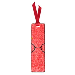 Glasses And Lightning Glitter Small Book Marks