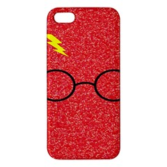 Glasses And Lightning Glitter Iphone 5s/ Se Premium Hardshell Case
