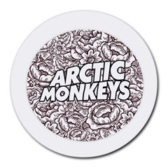 Artic Monkeys Flower Circle Round Mousepads