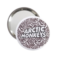 Artic Monkeys Flower Circle 2 25  Handbag Mirrors by Samandel